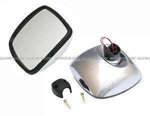 Freightliner M2 Columbia Rear View Wide Angle Mirror Chrome Heated Passeng Side