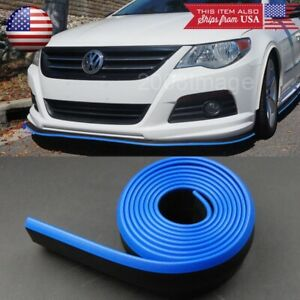 1 3 Black Blue Trim Ez Fit Bumper Lip Splitter Chin Splitter For Mazda Subaru
