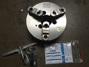 8 Bison Model 7 801 0816 3 jaw Self Centering Lathe Chuck