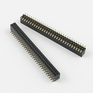 50pcs Gold Plated 1 27mm Pitch Double 2x30 60 Pin Smt Smd Female Header Strip