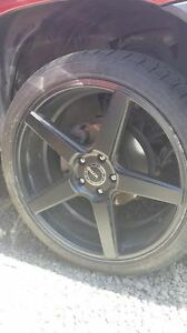20in Kmc Gloss Blk Toyota Tacoma Wheels 5 Spk