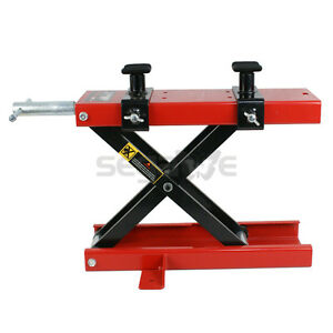 1100 Lb Crank Floor Stand Motorcycle Dirt Bike Atv Scissor Center Jack Mini Lift