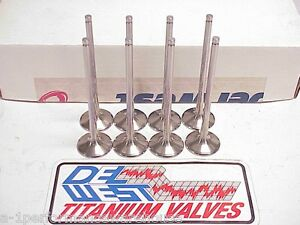 8 New 7 Mm Del West Titanium Exhaust Valves 5 730 1 620 Nascar Sb2 2