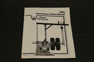 Winona Van Norman Rels 304 Heavy Duty Brake Lathe Operating Manual W Parts Id