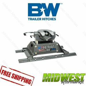 Universal B W Patriot 16k 5th Wheel Hitch Requires Mounting Rail