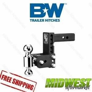 B W Tow Stow Black Receiver Hitch 2 X 2 5 16 Dual Ball 5 Drop 5 5 Rise