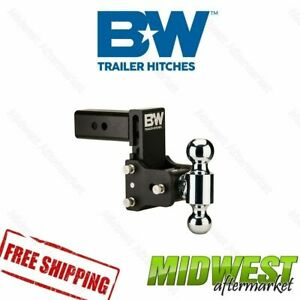 B W Tow Stow Black Hitch 1 7 8 X 2 X 2 5 16 Tri Ball 7 Drop 7 5 Rise