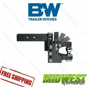 Ts10055 B w Tow Stow Pintle Hitch With 2 Ball 8 1 2 Drop 4 1 2 Rise