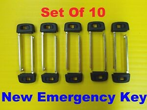New Set Of 10 Smart Remote Emergency Key Insert 69515 33100 Fits Toyota Hyq14fba