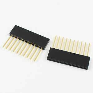 10pcs 2 54mm Pitch 10 Pin Single Row Stackable Shield Female Header For Arduino