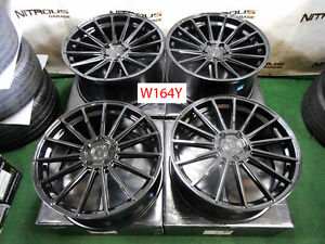 22 Roadforce Rf15 Porsche Panamera Concave Staggered Gloss Black Wheels W164y