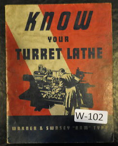 Warner Swasey Turret Lathe No 3 4 5 Service Manual