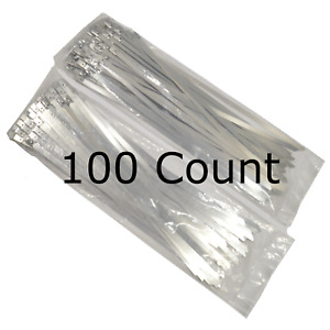 14 Qty 100 Stainless Steel Wire Zip Tie Industrial Strength Self Locking Band