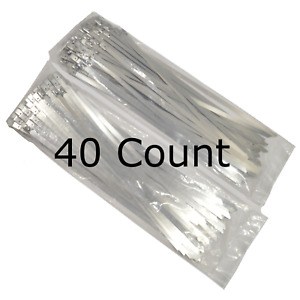 14 Qty 40 Stainless Steel Wire Zip Ties Industrial Strength Self Locking Band
