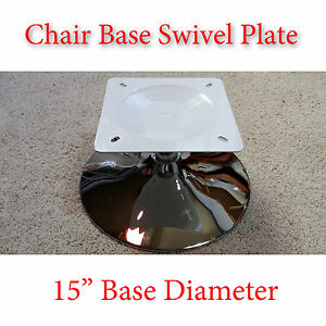 1pc 15 Inch Chrome Chair Base W Full Ball Bearing Flat Swivel Plate Diy