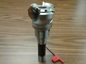 2 45 Degree Indexable Face Shell Mill W R8 Arbor face Milling Cutter new