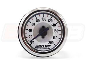 Air Lift 26227 Single Needle Air Pressure Analog Gauge 200 Psi