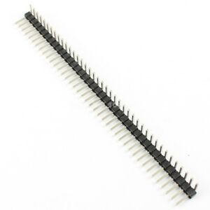 200pcs 2 54mm Pitch 1x40 Pin 40 Pin Right Angle Male Single Row Pin Header Strip