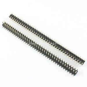 100pcs 2 54mm Pitch 2x40 Pin 80 Pin Male Double Row Smt Smd Pin Header Strip