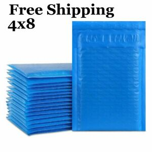 1 500 4x8 000 Blue Color Poly Bubble Padded Mailers Fast Shipping