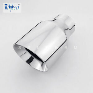 2 1 2 In 4 Double Wall Out 7 Long Round Slant Stainless Steel Exhaust Tip