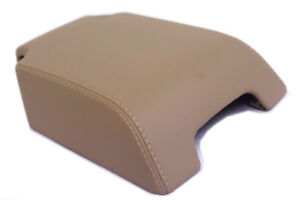 Center Console Armrest Cover Leather Synthetic For 05 16 Land Rover Lr3 Beige