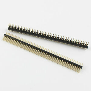 100pcs Gold Plated 1 27mm 2x50 Pin 100 Pin Male Double Row Straight Header Strip