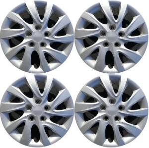 New Set Of 4 16 Inch Silver Aftermarket Wheel Covers Hubcaps For 10 13 Elantra