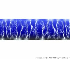 Vuscapes Truck Rear Window Graphic 4 Sizes Avial Lightning 2 Blue
