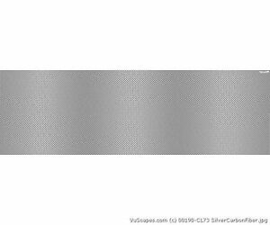 Vuscapes Truck Rear Window Graphic 4 Sizes Avial Silver Carbon Fiber