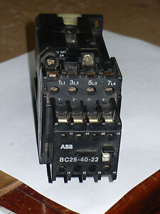 Abb Bc25 40 22 Contactor 24 Vdc Coil Used