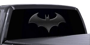 Vuscapes Truck Rear Window Graphic 4 Sizes Avial Batman Logo Black
