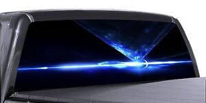 Vuscapes Truck Rear Window Graphic 4 Sizes Avial Blue Abstract V04