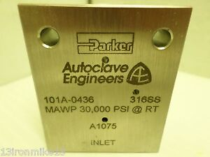 New Parker Autoclave Engineers 101a 0436 High Pressure Valve Body 30 000 Psi