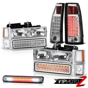 Extended Crew Cab Chevy Silverado Led Tail Light 3rd Brake Cab Headlights Lamps