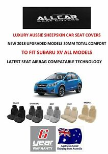 Sheepskin Car Seat Covers To Fit Subaru Xv Seat Airbag Safe 5 Colours Avail