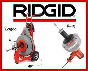 Ridgid K 45 1 Sink Machine 36013 Ridgid K 7500 Drum Machine 60052