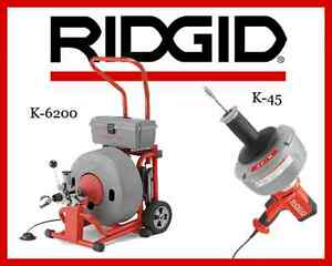 Ridgid K 45 1 Sink Machine 36013 Ridgid K 6200 Drum Machine 95732