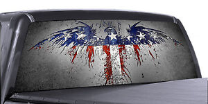 Vuscapes Truck Rear Window Graphic 4 Sizes Avial American Patriotic 2