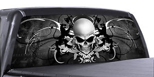 Vuscapes Truck Rear Window Graphic 4 Sizes Avial skull Crest