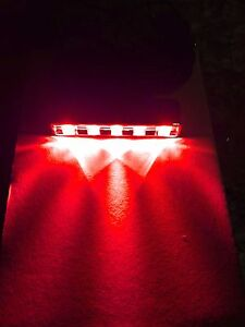 Red 5 Led Pod Module Neon Under Glow Accent Light Kit For Motorcycle Car Truck