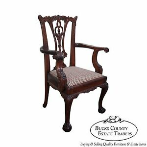 Chippendale Style Mahogany Miniature Arm Chair