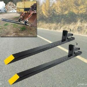 Pro 4000lbs 60 Clamp On Pallet Forks Chain For Loader Bucket Skidsteer Tractor