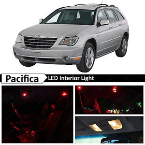 14x Red Interior Map Dome Led Lights Package Kit For 2004 2008 Chrysler Pacifica