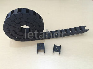 Plastic Nylon Cable Drag Chain 10 X 20mm R28 Engineering Wire Carrier 1000mm 40