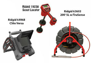 Ridgid 200 Color Sl Reel 13988 Navitrack Scout Locator 19238 Cs6 45143