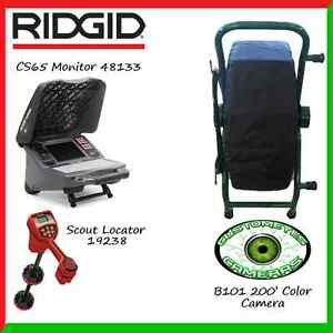 Ridgid Cs65 48133 Customeyes 200 Color Camera Reel Scout Locator 19238