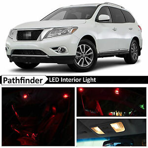 16x Red Interior License Plate Led Light Package Fit 2013 2016 Nissan Pathfinder