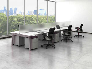 Oxygen Modern Collaborative Open Office Workstation desk table cubicle benching
