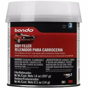Auto Body Filler 14 Oz Metal Car Boat Bondo Gallon Cream Hardener Automotive Kit